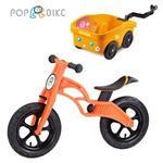 【BabyTiger虎兒寶】POPBIKE 兒童平衡滑步車 - AIR充氣胎 + 拖車組(紅)