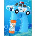 【17mall】兒童玩具電動聲光音樂警車泡泡槍附贈泡泡水