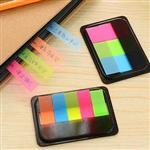 韓國抽拉式盒裝可撕螢光色便利貼(5入裝)