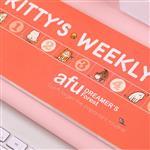 afu插畫貓咪週記本《貓咪的生活週記-典雅粉》