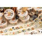 afu插畫日本和紙膠帶《貓咪的一百種生活 》