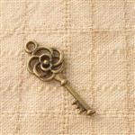 古銅色配件輕靈之森手工療癒系‧玫瑰之鑰*6