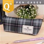 uhplus{COLLEGELEAGUE}Q-plus帆船筆袋-PinkPlaid