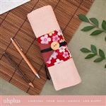 uhplus卷軸筆袋-日和櫻花雨(紅)