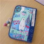 手縫ok!-寶寶手冊收納袋-藍(拼布材料包)