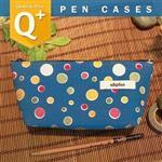 uhplus Q-plus 寬底筆袋/島國物語。琉璃丸(水藍)