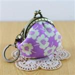 手縫ok!-口金鑰匙圈A款-紫(拼布材料包)
