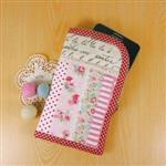 手縫ok!-玫瑰派手機袋(拼布材料包)