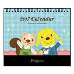 Smohouse ︰2017插畫明信片式桌曆