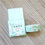 中國風(荷葉田田)和紙膠帶(1.5cm*7m)