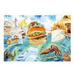 afu尋夢者森林明信片《I02 美食饗宴-速食島嶼國》