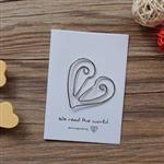愛心‧迴魂針造型書籤卡