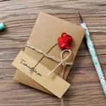 玫瑰‧牛皮紙手工立體小卡
