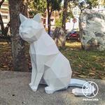 坐貓擺飾_紙模型手作組