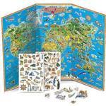 世界印象地圖夜光磁鐵書