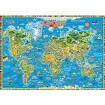 世界印象地圖英文版