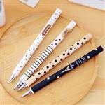 簡約條紋點點鐵塔可擦拭中性筆(0.5mm)(隨機出貨)