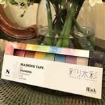 日本進口 RINK 系列和紙膠帶 - 水彩顏色_8 色組