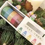 日本進口 RINK 系列和紙膠帶 - 彩色蠟筆_5色組