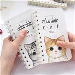 手掌型Adorable文青療癒貓線圈筆記本/記事本/日記本(隨機出貨)
