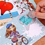 紙先生長髮姑娘愛心秘密刮刮樂明信片(4入)