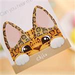 Chka三角形尖耳朵貓咪便利貼/便條紙/N次貼(隨機出貨)