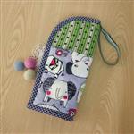 手縫ok!-大象塗鴉直立式筆袋(拼布材料包)含影片教學