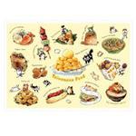afu尋夢者森林明信片《H07 貓咪美食家-台灣小吃篇-芒果冰》