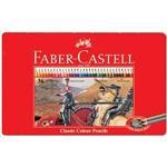 Faber-Castell 輝柏 115846 油性彩色鉛筆紅色精緻鐵盒裝36色組