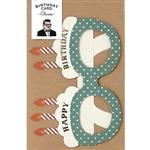 日本【LABCLIP】Birthday card系列造型生日卡片-眼鏡藍