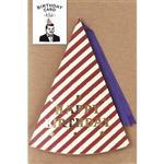 日本【LABCLIP】Birthday card系列造型生日卡片-帽子紅