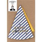 日本【LABCLIP】Birthday card系列造型生日卡片-帽子藍