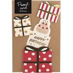 日本【LABCLIP】Present card系列造型禮物卡-紅