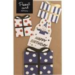 日本【LABCLIP】Present card系列造型禮物卡-藍