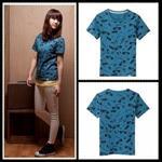 T-shirt(印花)-大耳查布3501L(藍)