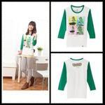 T-shirt(拼接七分)-大耳查布3502XL(綠)