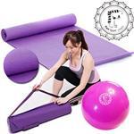 【Fun Sport】PER環保瑜珈墊-貴族紫+好氣色彈力球30cm