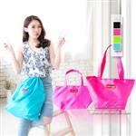 Mi-Mi-Leo旅行收納袋,大+小1組-桃紅色