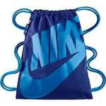【Nike】時尚Logo標誌抽繩小背包-深寶藍色【預購】