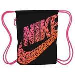 【Nike】迷彩Logo標誌抽繩小背包-黑色【預購】