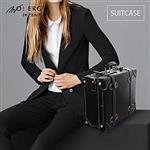 【MOIERG】Vintage Feel愛上復古潮旅行plain suitcase (M-14吋)