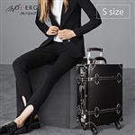 【MOIERG】Vintage Feel愛上復古潮旅行plain trunk(S-17吋)Black