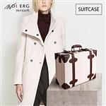 【MOIERG】Old Time迷戀舊時光combi suitcase(M-14吋)White