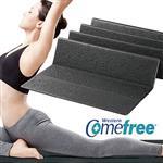 Comefree羽量級TPE摺疊瑜珈墊-極致黑