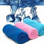 消暑神器 急速涼感冰涼毛巾 (4色可選)-紫