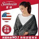 【美國Sunbeam】柔毛披蓋式電熱毯(氣質灰)