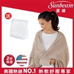 【美國Sunbeam】柔毛披蓋式電熱毯(優雅駝)
