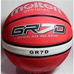 MOLTEN  籃球 深溝 molten  7 號 BGR7D-RW 紅白  附球網羽球針