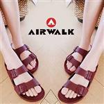 AIRWALK -EVA中性雙扣環羅馬休閒AB拖鞋 - 暗紅