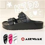 AIRWALK(童) -EVA中性雙扣環羅馬休閒AB拖鞋 - 黑